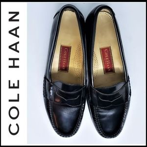 COLE HAAN Black Men's Leather Pinch Penny Loafers
